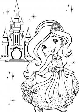 Розмальовка дівчинка – Раскраски для девочек распечатать ...