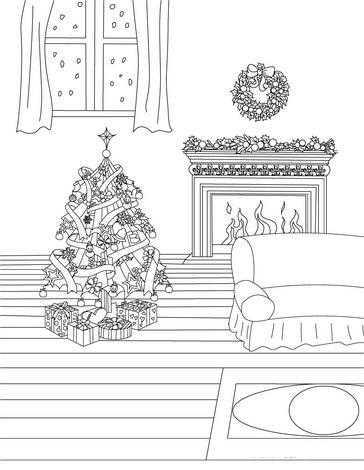 Елочка раскраска картинка – Раскраска Новогодняя Елка ...