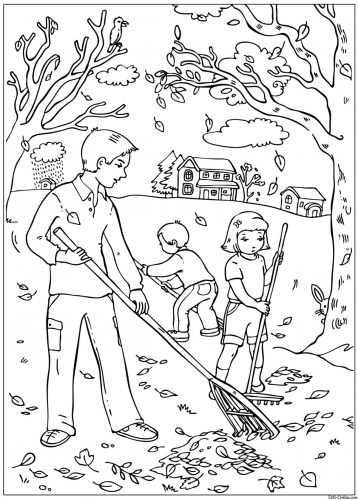Раскраска для детей осенний лес – Раскраски на тему осень ...