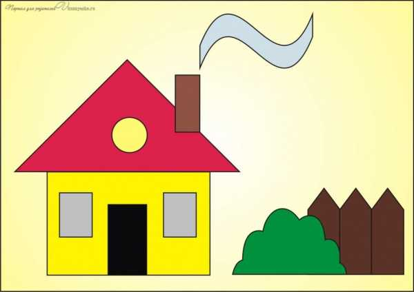 Рисунок из геометрических фигур и цифр – Ой! – Всё о детях ...